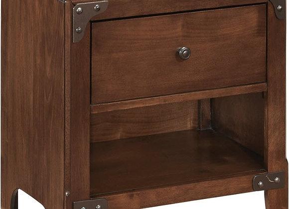 Delburne One Drawer Medium Brown Nightstand