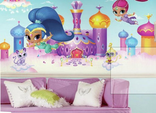 Shimmer and Shine Surestrip Wall Mural 10.5' x 6