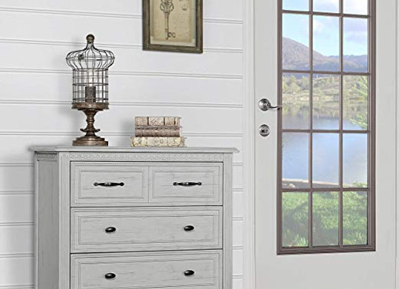 Madison 3 Drawer Chest Dresser in Antique Mist Gray