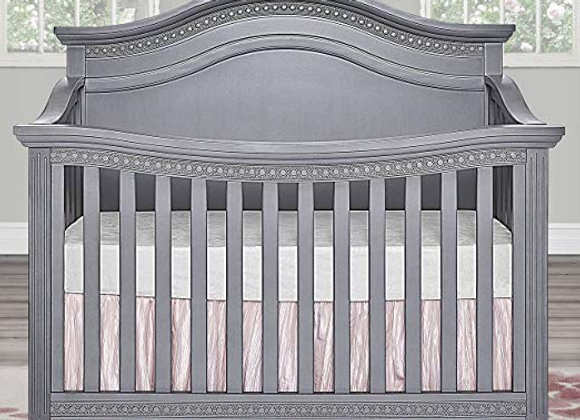 Madison 5 in 1 Solid Wood Curved Top Crib in Storm Gray