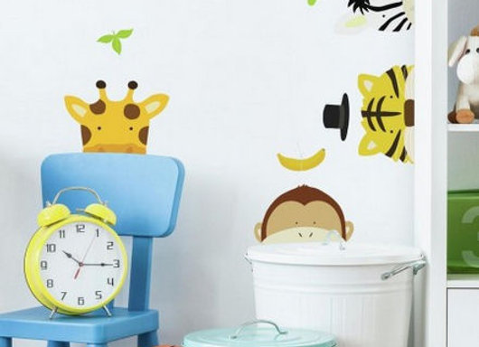 Roommates Zoo Peel and Stick Wall Decals