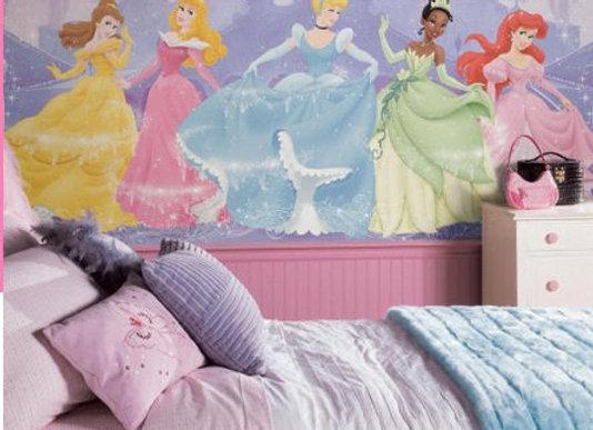 Disney Perfect Princess Surestrip Wall Mural 10.5' x 6