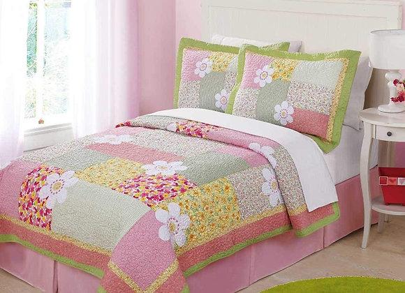 Julia Floral Patchwork Quilt and Sham Set