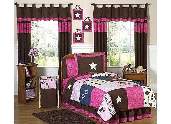 Sweet JoJo Designs Western Horse Cowgirl Bedding Set