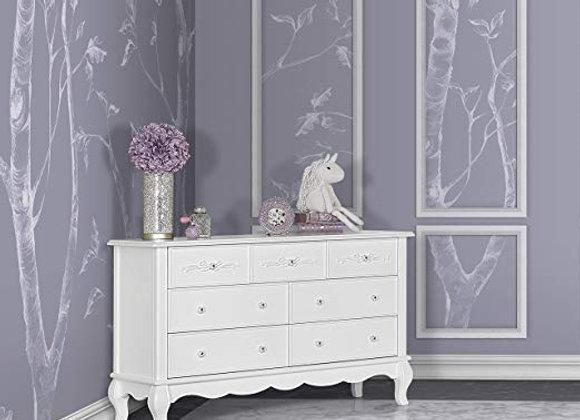Aurora 7 Drawer Dresser in White Frost