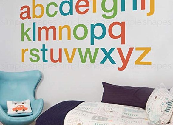 Alphabet Wall Decals - Multiple Sizes and Colors