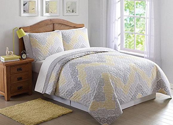 Laura Hart Antique Chevron Comforter and Sham Set