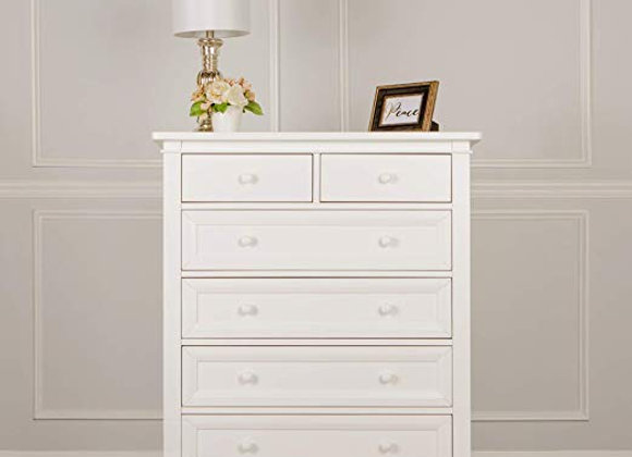 Fairbanks 6 Drawer Dresser in Winter White