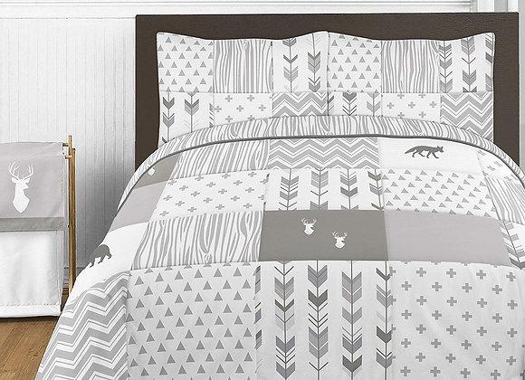 Sweet JoJo Designs Woodsy Deer Quilt and Sham Bedding Set