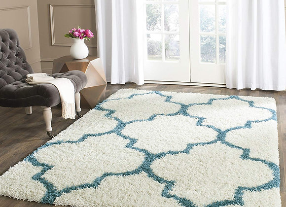 Safavieh Kids Ivory and Blue Shag Area Rug