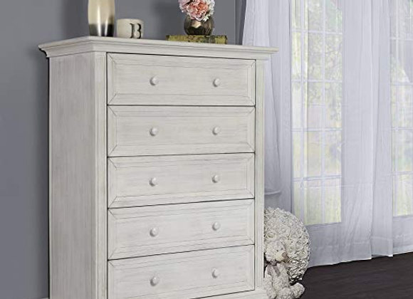 Napoli Tall Chest Dresser in Antique Gray