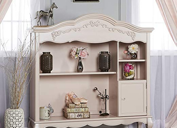 Aurora Bookcase in Blush Pearl Pink