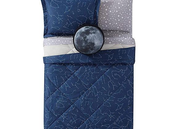 Laura Hart Midnight Blue Night Sky Comforter and Sham Set