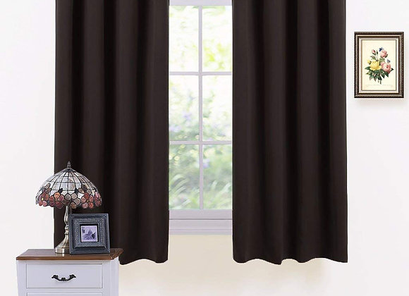 Set of 2 Thermal Blackout Chocolate Brown Grommet Drapes