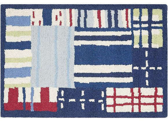 Safavieh Kids Blue Patchwork Wool Area Rug