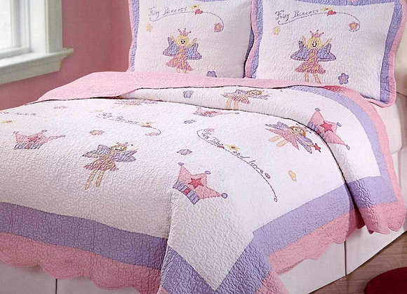 Fairy Princess Quilt and Sham Set