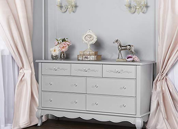 Aurora 7 Drawer Dresser in Akoya Gray Pearl