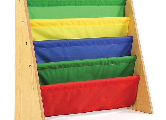 Tiered Multi Color Book Rack Storage
