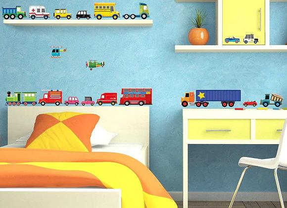 Transportation Kids Wall Decals