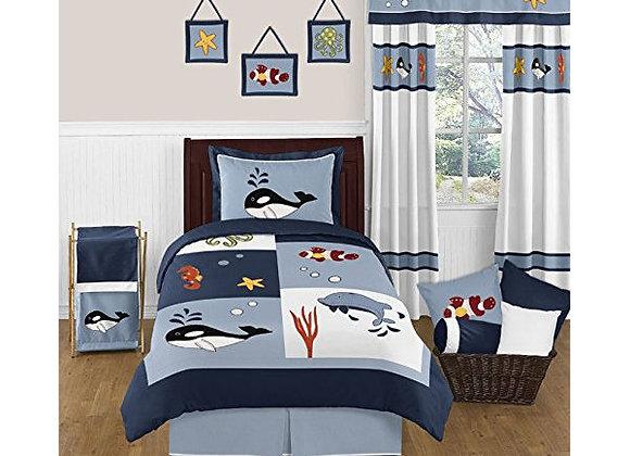 Sweet JoJo Designs Ocean Blue Sea Life Bedding Set