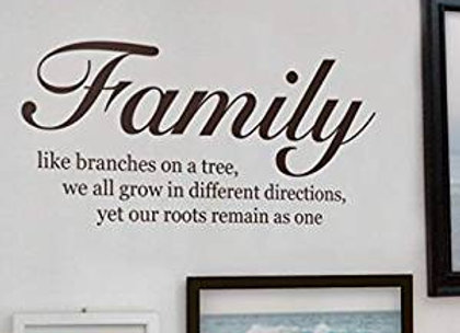 Family Branches on a Tree Wall Decal