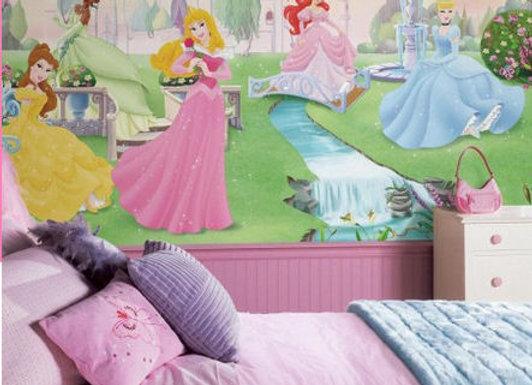 Disney Dancing Princess XL Surestrip Wall Mural 10.5' x 6'
