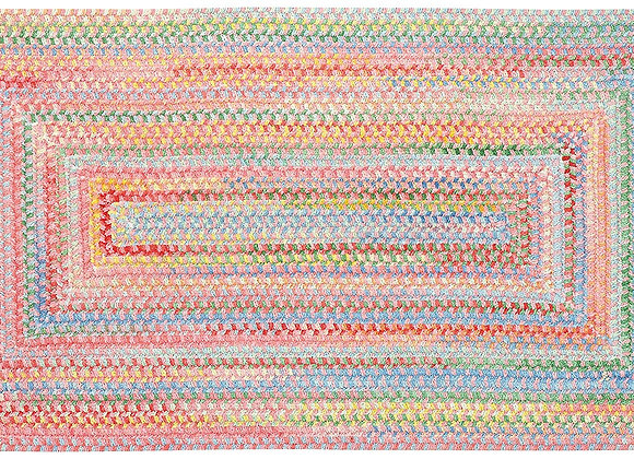Capel Braided Area Rug Baby's Breath Pink