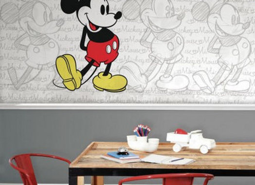Classic Mickey Mouse Surestrip Wall Mural 10.5' x 6