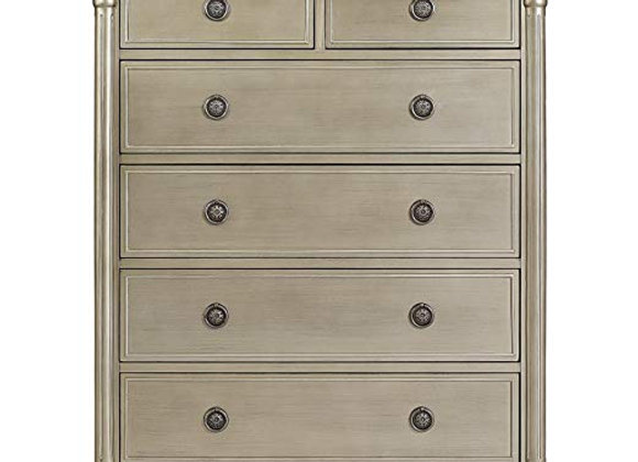 Julienne 6 Drawer Chest Dresser in Antique Bronze