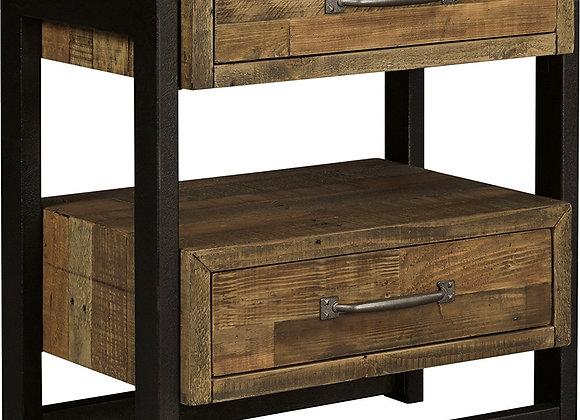 Sommerford 2 Drawer Reclaimed Pine Nightstand