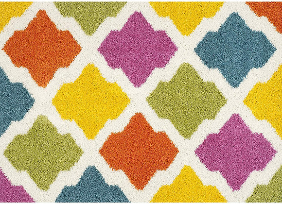 Safavieh Kids Multi Diamond Shag Area Rug