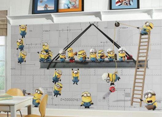 Minions at Work Surestrip Wall Mural 10.5' x 6