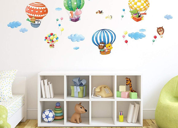 Hot Air Balloons and Animals Wall Decals