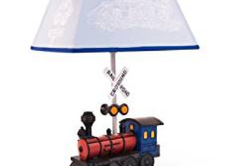 Train Table Lamp with Shade