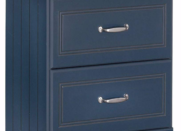 Leo Navy Blue 2 Drawer Nightstand