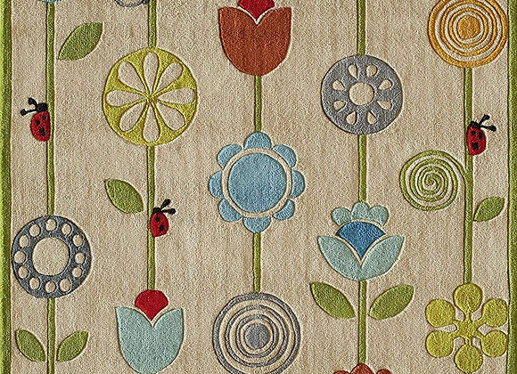 Momeni Kids Garden Flower Hand Carved and Tufted Area Rug