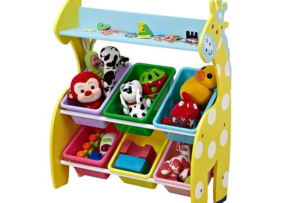 Giraffe 6 Bin Toy Storage Organizer