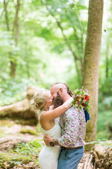 Rich + Tiffany | Simple Nature Wedding | Milam, West Virginia