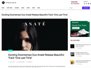 IhouseU - Exciting Downtempo Duo Anaté Release Beautiful Track 'One Last Time'
