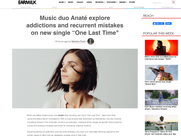 """EARMILK - Music duo Anaté explore addictions and recurrent mistakes on new single """"One Last Time"""""""