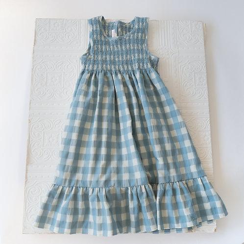 Vestido largo Paloma Vichy agua
