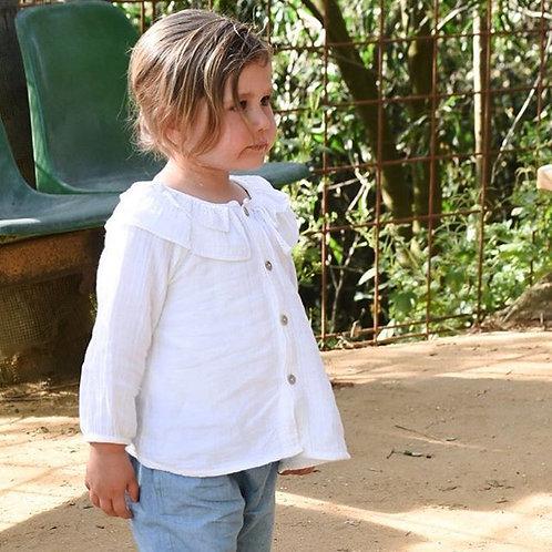 Camisa pintor gasa blanca