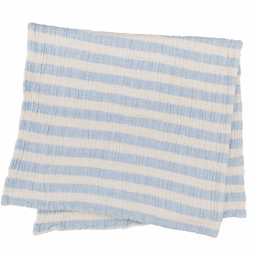 Muselina rayitas azul