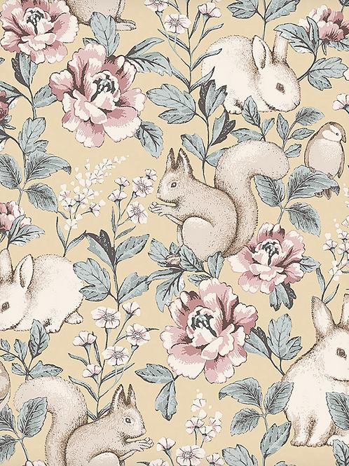 Rollo papel Conejitos amarillo