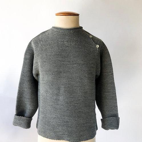 Jersey punto gris botones laterales