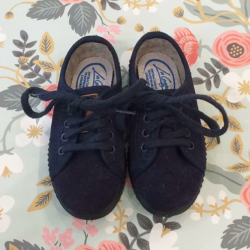 Zapatos Basket serraje azul