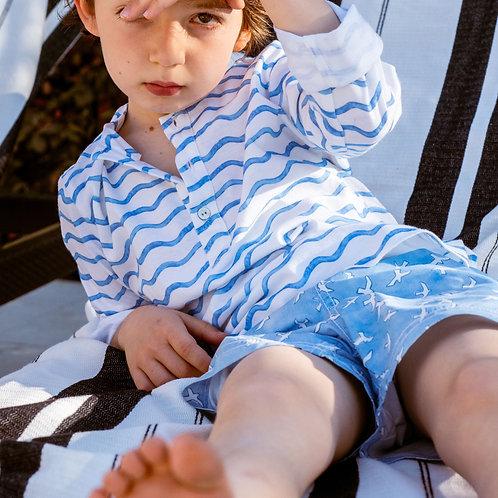 Camisa Felipe ondas azules