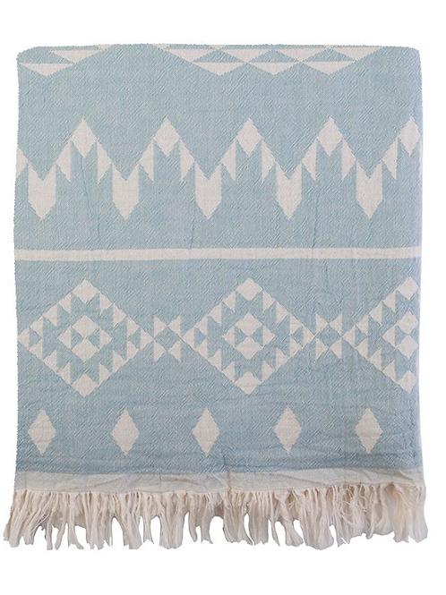 Colcha tribal azul