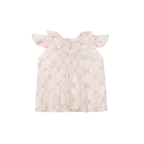 Camisa Lina flor malva