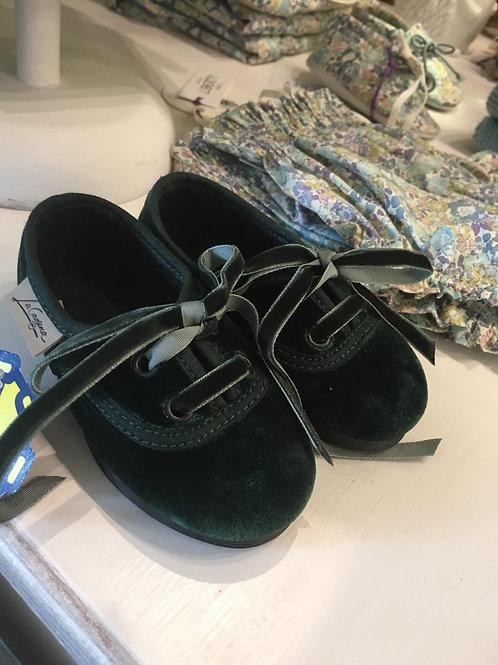 Zapato inglés verde botella